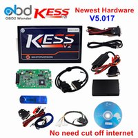 Wholesale Ecu Tuning Tools - KESS V2 5.017 ECU Chip Tuning Tool No Tokens Limited KESS V5.017 Master Version Tuning Kit Free EMC Titanium As Gift