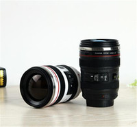Wholesale Thermos Cups For Coffee - Camera Lens Mug 400ML Stainless steel Coffee Cup Best Gift For Canon Fans Thermos Coffee Milk Tea Water Cup