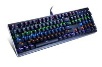 Wholesale Best Keyboards - Best Quality Mechanical Gaming Keyboard 104 Keys 9 LED Backlit Mode Bule Switch for LOL Gamer DHL Free