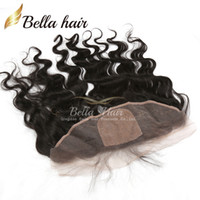 Wholesale Silk Top Closure Free Shipping - Lace Frontal Closure Silk Base Top Brazilian Body Wave Human Hair Extensions 4*13 Natural Color Ear To Ear Hair Pieces Free Shipping