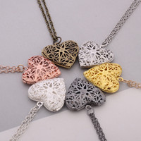 Wholesale Gold Metal Plate Photos - metal charms locket heart shape memory lockets floating photo necklace love gift