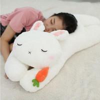 Wholesale Bunny Pillow - 85cm big cuddly cartoon lying bunny latest plush pillow anime rabbit doll toy Christmas gift 33inch 85cm