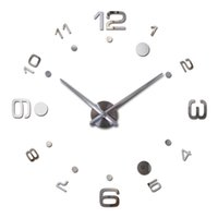 Atacado-2016 New Wall Clock Breve Design diy Acrylic Relógios Horloge acrílico Quartz Watch Stickers Breve Living Room pinturas decorativas