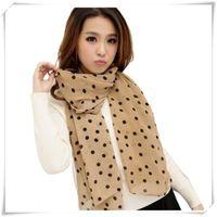 Wholesale Plain Scarve - Wholesale-Newly Design Stylish Girl Long Soft Silk Chiffon Scarf Wrap Polka Dot Shawl Scarve For Women May18