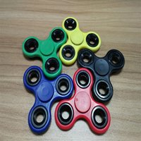 Wholesale Toy Shipping Bike - 2017 EDC Fidget Spinner toy finger spinner toy Hand tri spinner HandSpinner EDC Toy For Decompression 7 color Anxiety Toys Free Shipping
