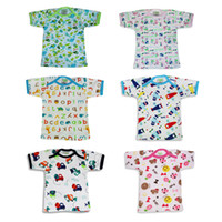 Wholesale Cotton Long Underwear Shirts Wholesale - (20 piece) New infant Baby half back baby tops infant underwear singleton coat pure cotton shirt Good Quality Pattern rich Square collar