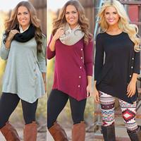 Wholesale Wholesale Jumper Knit - Wholesale-Women Long Sleeve Loose Knitted Sweater Jumper Knitwear Outwear