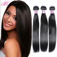 Wholesale Wholesale Process Hair - BD Silky Straight Human Hair Extensions Virgin Hair Cheaper Body Wave Loose Wave Straight Human Hair Extensions
