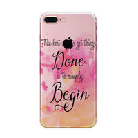 Wholesale Transparent I Phone Cover - I 7plus Colorful painted Marble Phone Case for IPhone I 7plus Soft Tpu Silicone Case Back Cover fundas
