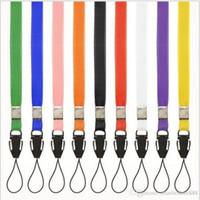 Wholesale Nylon Badge Holder - 1000pcs Nylon lanyard Neck Strap For ID Pass Card Badge Gym Key Mobile Phone USB Holder DIY Hang-Rope With Aircraft Buckle random