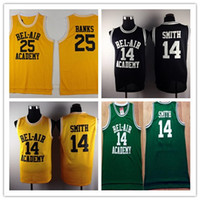 488e9b709 Fashion 14 WILL SMITH Jerseys White Black The Fresh Prince 25 Carlton Banks  Jersey OF BEL-AIR Basketball BEL AIR Academy Yellow Shirts ...
