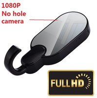 Wholesale Hidden Spy Camera Mirror - 1080P HD WiFi Hidden Spy Camera Clothes Hook with Super Night Vision Home Security Convert Mirror Cover No Hole WiFi Spy Cam Y11