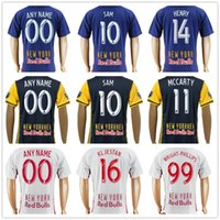 Wholesale Phillips Blue - New York Red Soccer Jersey 14 HENRY 8 JUNINHO 17 CAHILL 11 McCARTY 10 SAM 16 KLJESTAN 16 LADE 99 PHILLIPS Football Shirt