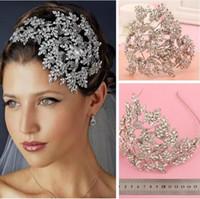 accesorios para el cabello princesa al por mayor-Nueva boda nupcial de cristal Rhinestone plata reina diademas Tiara tocado princesa accesorios para el cabello Pageant Prom fiesta de joyería al por menor
