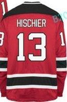 Wholesale White Silk Hot - Hot NEW ARRIVAL New Jersey Devils #13 Nico Hischier 2017 No.1 Draft Pick Custom Hockey Jerseys White Red Cheap