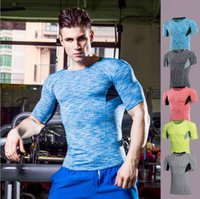 Uomo Athletic Compression Base Layer Cool Dry Camicia a maniche corte