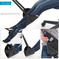hamaca de pie al por mayor-Hamaca para los pies Travel Footrest Portable Airplane Train Viaje largo para los pies Soporte para los pies Hangmat 43x21.5cm