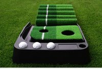 ingrosso tappeti erbosi artificiali-Tappeto da golf all'ingrosso - Mettendo, mini golf Putting Trainer con tappeto automatico di ritorno Tappeto erboso artificiale per interni