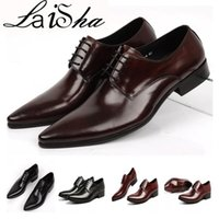 Wholesale Footwear Mens Formals - Shoes Men Leather Genuine Italian Designer Mens Pointed Toe Dress Shoes Classic Formal Oxford Shoes For Men Footwear Wedding Size 39-45