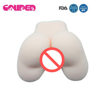 Wholesale realistic vagina butts - FREE SHIPPING!1.1kg flesh Sex Products, Real Skin Feeling, Full Silicone Big Ass Butt With Realistic Vagina & Anal, Best Male Masturbator