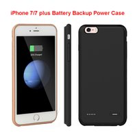 Wholesale External Battery Back Case - New Hot Power Battery Case External Battery Backup Power Case Back Cover Charger for iPhone 7 7 plus 6s 6 Power Bank