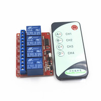 Wholesale Infrared Remote Control Receiver - Wholesale- 4-Channel Way 12V IR Wireless Remote Control Switch Receiver Relay , with a Infrared Controll Transmmiter