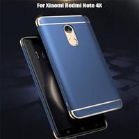 xiaomi kunststoff-gehäuse großhandel-Mode Abnehmbare Hybrid 3 in 1 Galvanisieren Hartplastik Fall Galvanisieren Rückseite Für Xiaomi 5 s Plus 6 Rot Mi 4X 4A Hinweis 3 4 4X Letv2