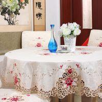 europa mantel beige lace floral mantel bordado manteles redondos cuadrados para bodas decoracin para el hogar toalha de mesa