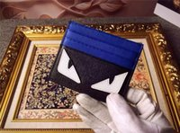Wholesale Name Branded Wallets - Top quality Fashion Brand Name Card holder Luxury Brand Monster Cowhide desiger Mini Credit card holder mini wallets