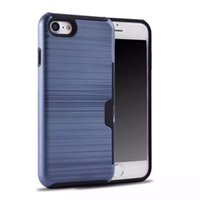 ingrosso casi iphone5s-coperchio della scheda PC TPU di lusso ibrida di caso duro Heavy Duty Defender Back Cover protezione Shockproof per iPhone5S 6S 7plus Samsung S6