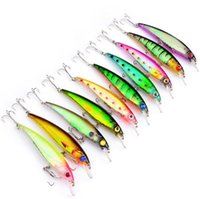 New 11CM Classic Lures isqueiro plástica Bionic Lures Pesca Gear 10 cores Fishing Hooks Lures Wholesale