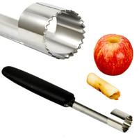 birnenkerne großhandel-Neue Edelstahl Kern Remover Obst Corer Birne Apfel Einfach Twist PP Griff Küche Werkzeug Gadget