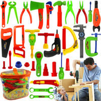 Wholesale 32pcs Set Play House Toy Maintenance Tools Portable Children Toolbox Simulation Repair Kit Kids Educational For Boy Toys Gifts