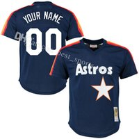 Men blank mesh jerseys - Men s Custom Houston Astros blank Baseball Jersey Retro Collection For Sale stitched mesh jerseys