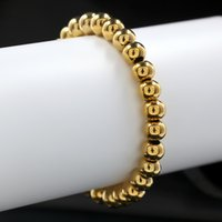 Wholesale Rosaries Gold Filled - Unisex 3 Colors Rosary Bead Bracelet Stainless Steel Fashion Jewelry Buddhist Buddha Meditation Beads Bracelet Bangle Top Quality Bracelet