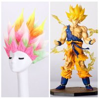 Wholesale Mans Cool Hair Wig - Z&F Cosplay Wigs Dragon Balls Z Super Saiyan Colorful Cool Son Goku 20cm Anime wigs Men Adult Women Hair
