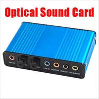 usb spdif toptan satış-Popüler Harici Optik USB Ses Kartı 6 Kanal 5.1 Ses Ses Kartı Adaptörü SPDIF Optik Denetleyici PC Dizüstü Bilgisayar için