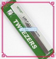 Wholesale Stainless Steel Extension - Wholesale- Free Shipping 2pcs VETUS ST17 Small Curved Fine Tweezers Stainless Steel Eyelash Extension