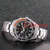 Wholesale precision watch resale online - Luxury Top Quality Mens Watch Co Axial James007 Stainless Steel quartz Movement Chronograph Black Men s Watches precision male wristwatch