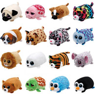 Wholesale Large Eye Plush - mini Ty Cap large Eye care products Penguin pocket ZUM candy Dog Soft plush doll toy pink Owl ty gift for small children