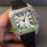 Wholesale 2824 Watch - Top quality Luxury Brand V7 316L Steel Diamond ETA 2824 Automatic Roman numerals White Dial Square Mens watch 42MM Casual Man watches