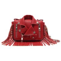 ostrich leather jackets - Richmlan Fashion famous brand leather handbags Motorcycle Jacket Fringe Satchel PU leather bags with Low MOQ