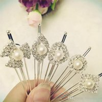 Wholesale Kinder Barrette - New Fashion luxury Long Rhinestone Hair Clip Fashion stones Hair Jewelry For Women Crystal Hair Accessories Five kinds of model