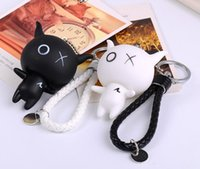 Ball black order keychain - Creative Anxie Black Aberdeen Couple Car Keychain Blend Doll Key Chain Pendant Little Gift KR254 Keychains mix order pieces a