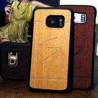 Wholesale Covers For Galaxy S4 Wood - Vintage design Wood style case for Samsung Galaxy S7 S6 edge Plus S5 S4 S3 PC material hard cover case