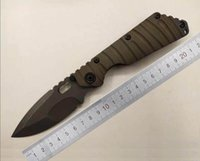 Wholesale custom titanium folding knife - Mick ST Tank Strider Custom MSC Nightmare SMF Tactical Folding Knives Vicissitudes Stonewashed D2 Blade Anode 3D CNC TC4 Titanium Handle