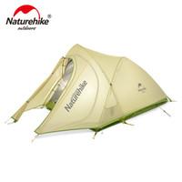 tapis de camping double achat en gros de-Farbic en nylon 20D ultra-léger 2 personnes de NatureHike avec du silicium enduit des tentes de camping extérieures imperméables avec le tapis NH17T0071-T