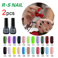 Wholesale Gel Unhas - Wholesale- RS nail soak off gel nail 3 gel nail polish setstep ongle harmonyuv lucky set of lacquers vernis a uv color unhas de gel