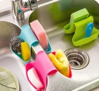 Wholesale Double Sink Caddy Saddle Style Kitchen Organizer Storage Sponge Holder Rack Tool