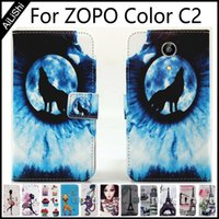 Wholesale Cover For Zopo C2 - AiLiShi PU Leather Case For ZOPO Color C2 Flip Protective Cover Wallet With Card Slots Color C2 ZOPO Case